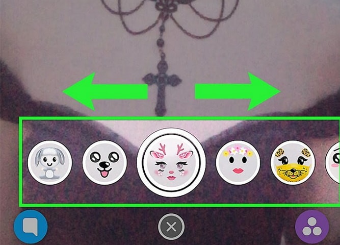 get video call filter in snapchat