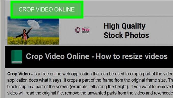 crop video for insta