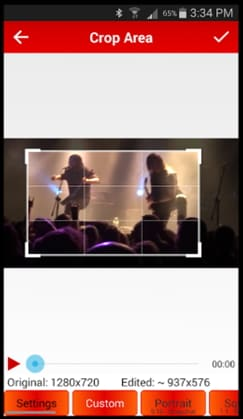ritaglio video instagram su Android