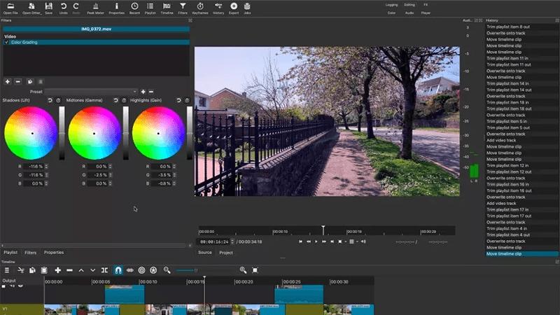 Shotcut mp4 editor free