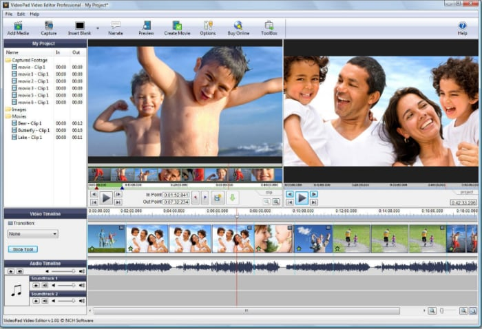 VideoPad edit canon camera videos