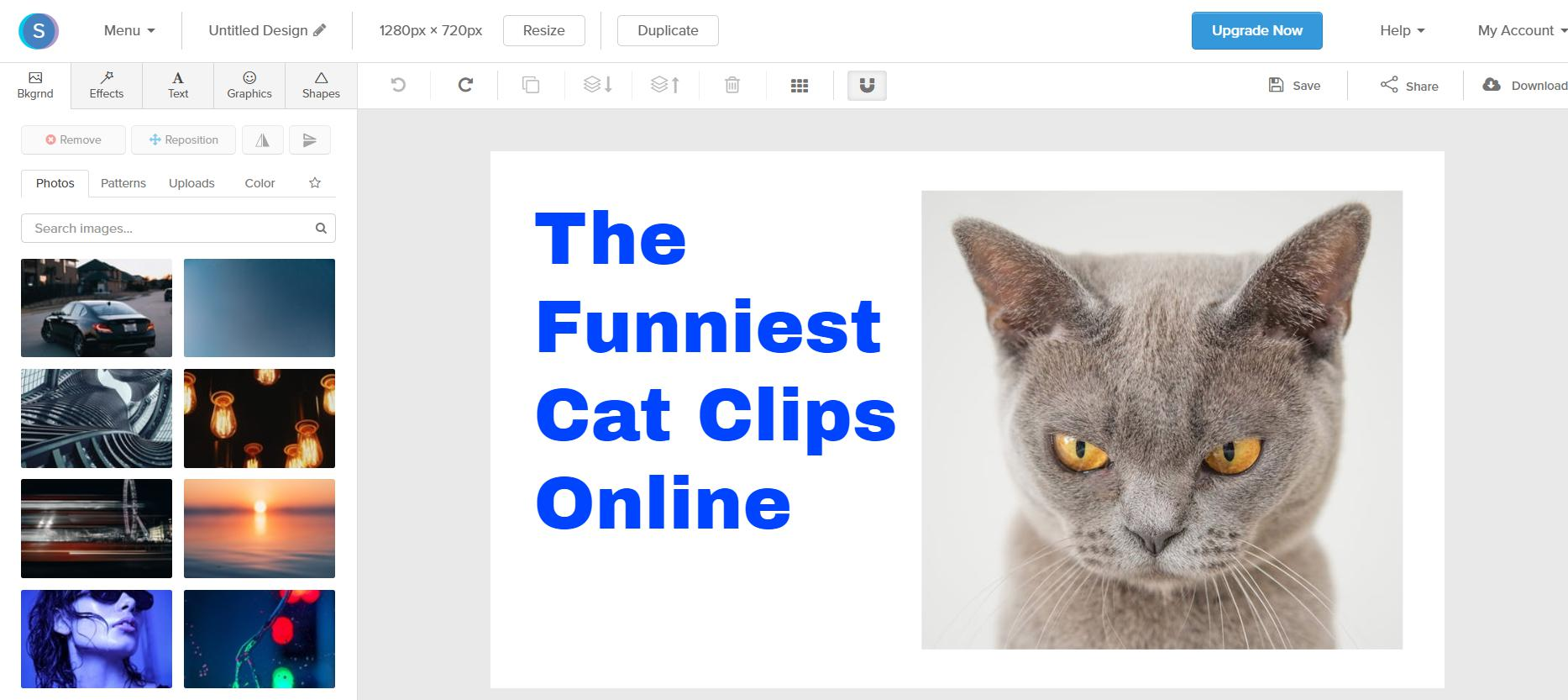 create youtube thumbnail