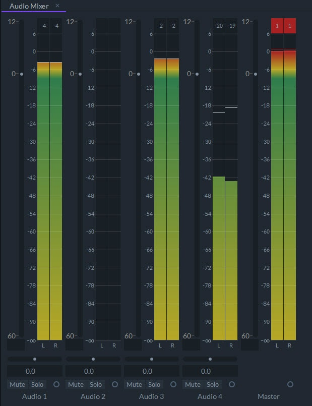 audio mixer editing audio filmora pro