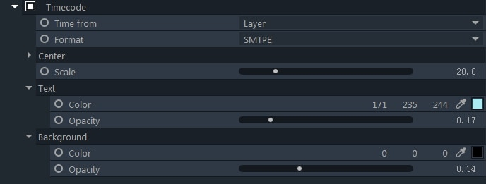 filmorapro generate timecode effects