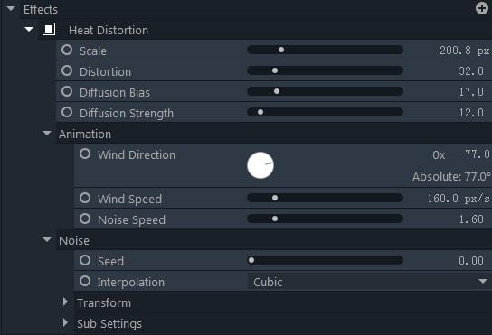 filmorapro distort tools effects