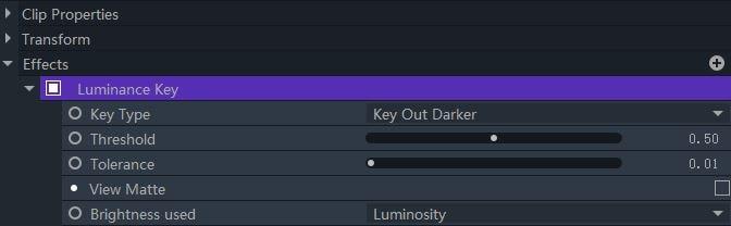 luminance key