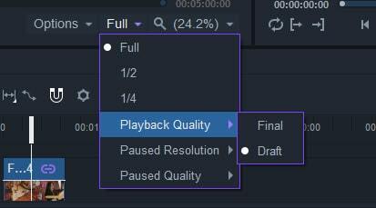 playback quality