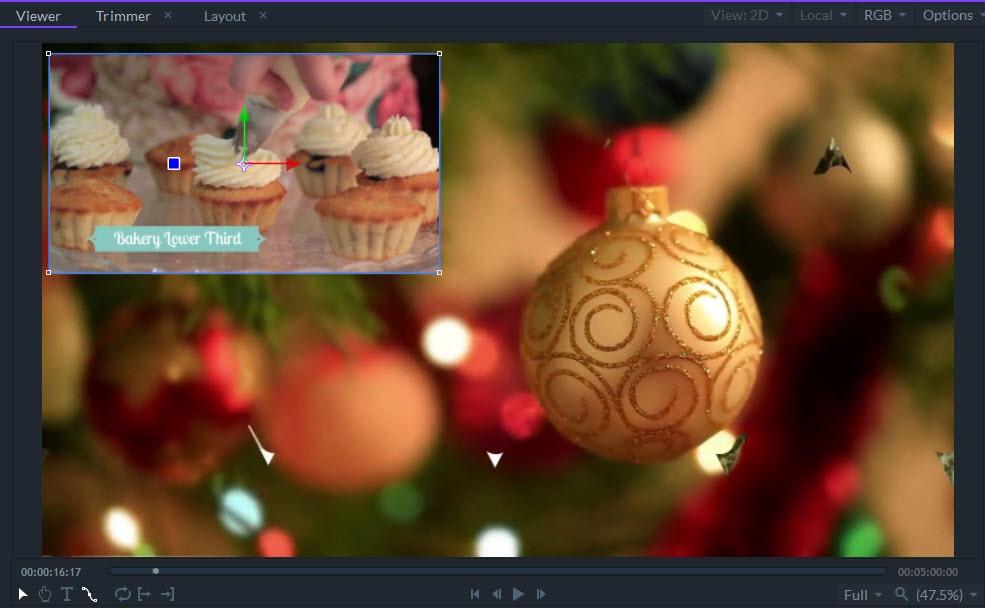 filmora pro transform widget