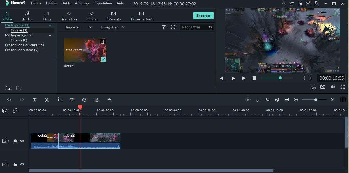combiner des vidéos Dota