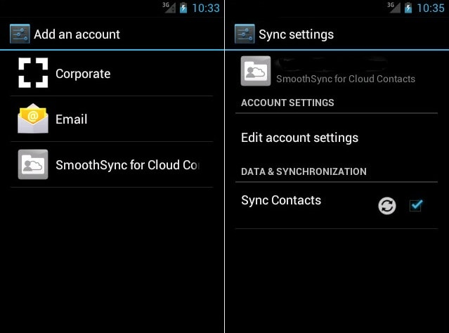 SmoothSync for Cloud Contacts