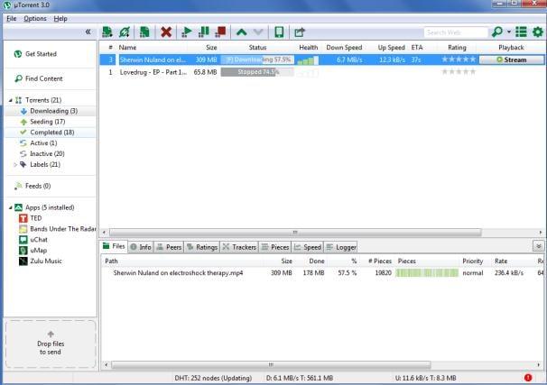 uTorrent to iTunes