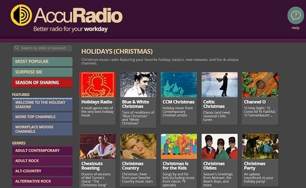 christmas music radio station