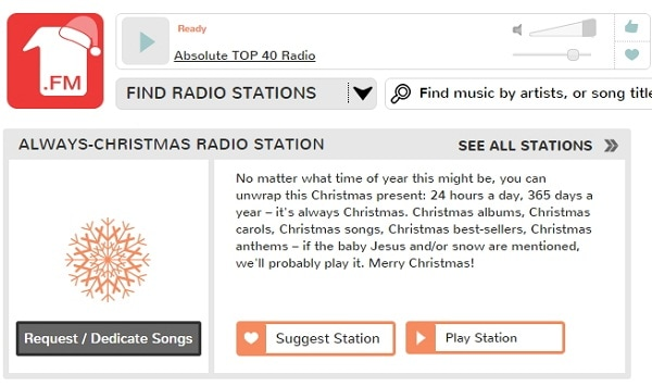 what radio station plays christmas music