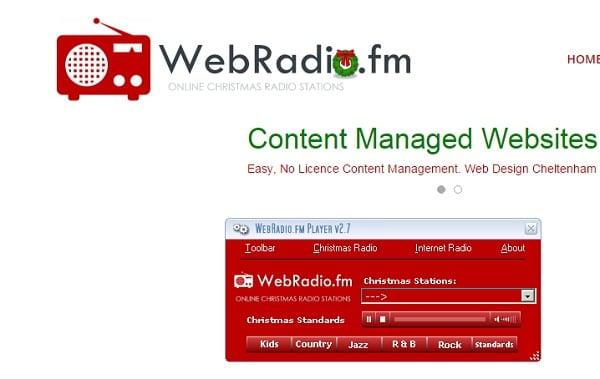 radio station christmas music