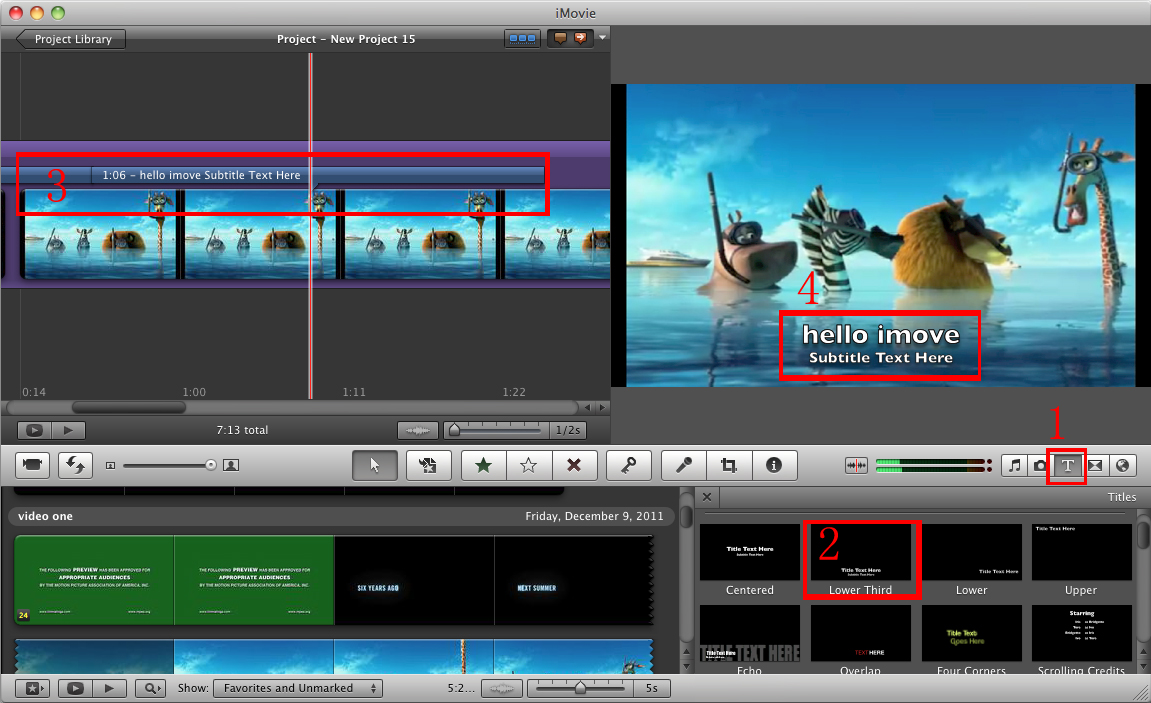 Imovie Subtitleshow To Add Subtitles To Videos In Imovie
