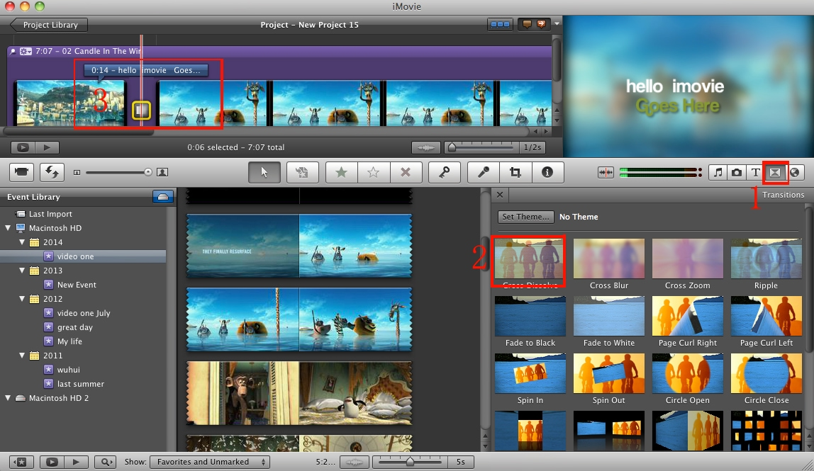 transition imovie