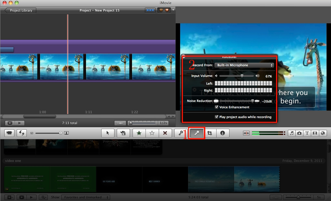 imovie voice over
