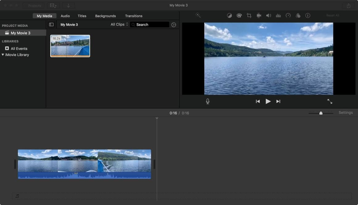 crop video using imovie