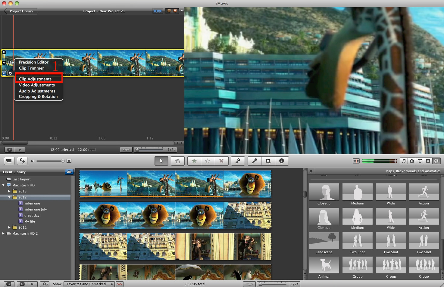timelapse in imovie