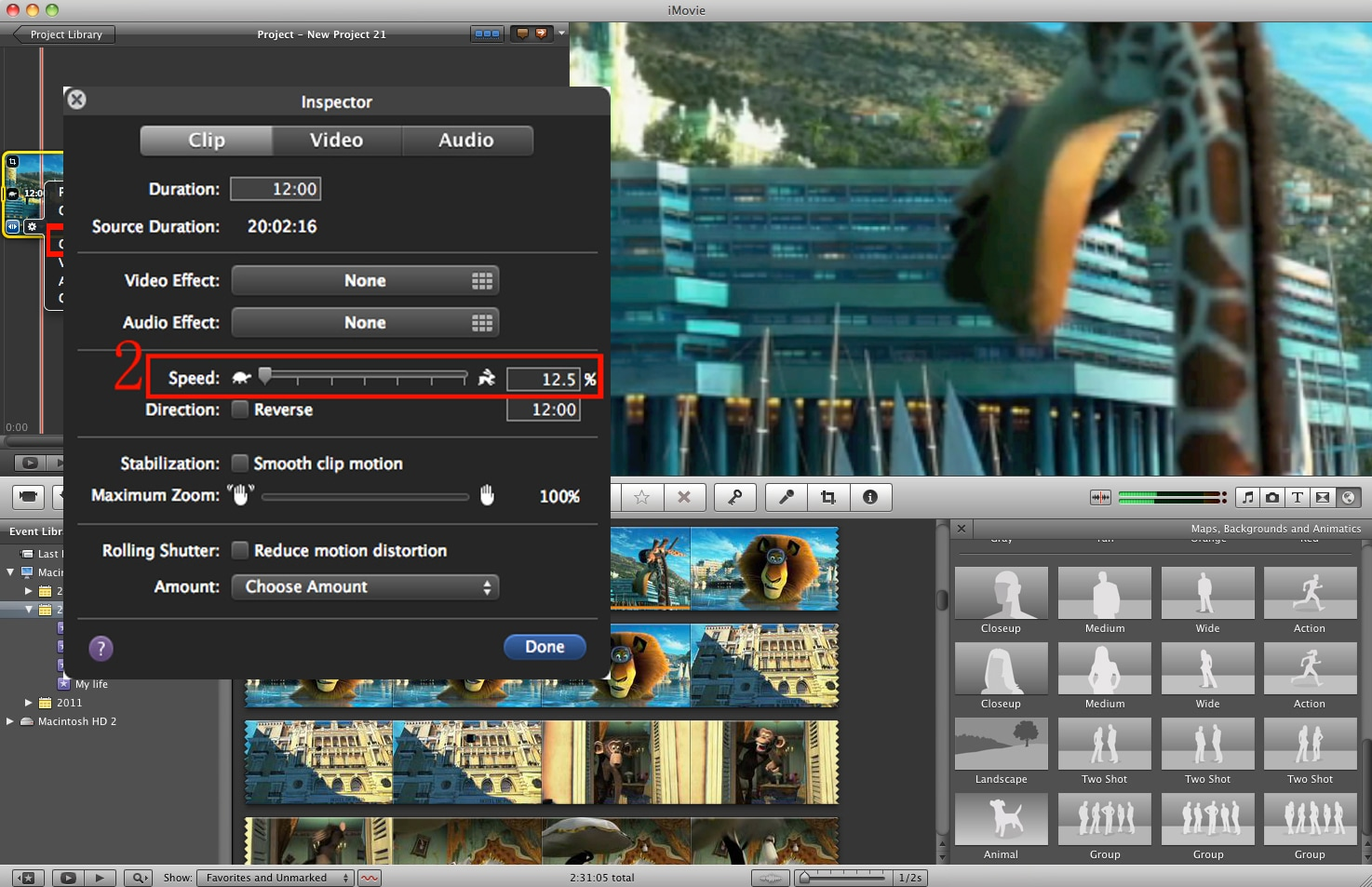how to make timelapse in imovie