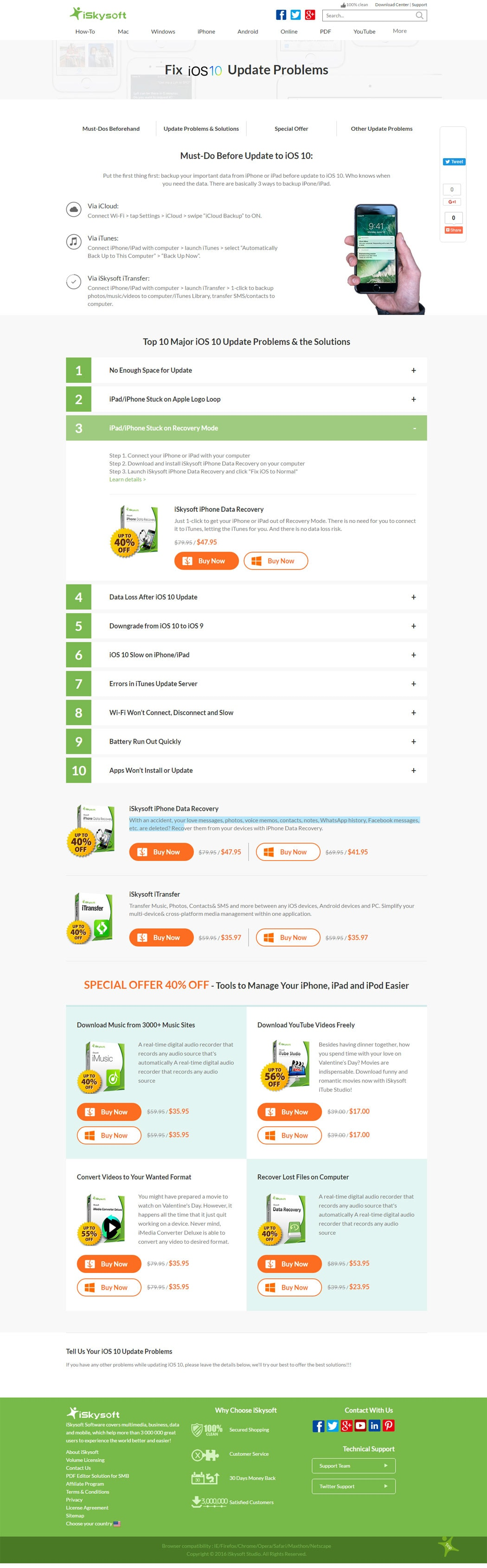 Infographic Ios 10 Upgrade Guide 10 Major Problems