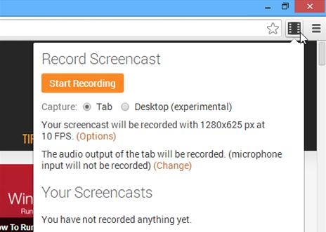 online no download screen recorder