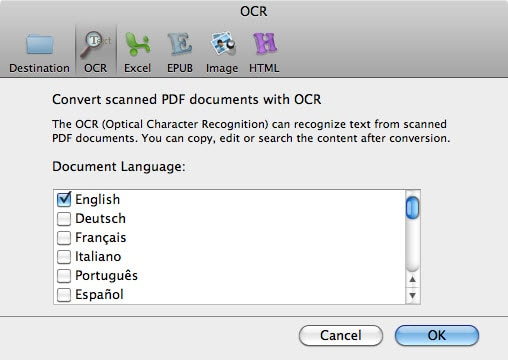 enable OCR
