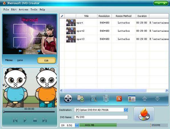 3herosoft DVD Creator