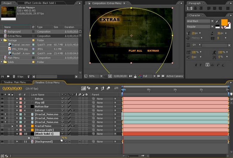 How to create dvd menu in after effect for Dvd menu templates after effects