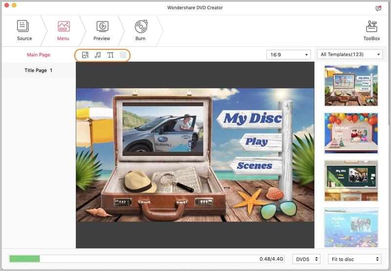 Customize Animated DVD menu