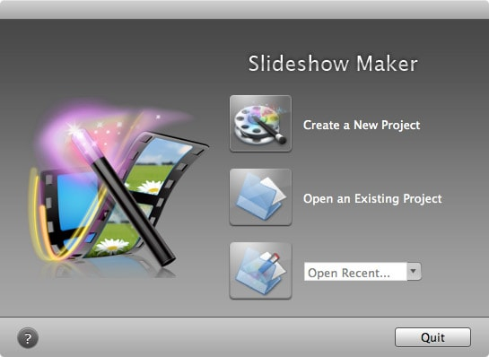 launch iskysoft slideshow maker for mac
