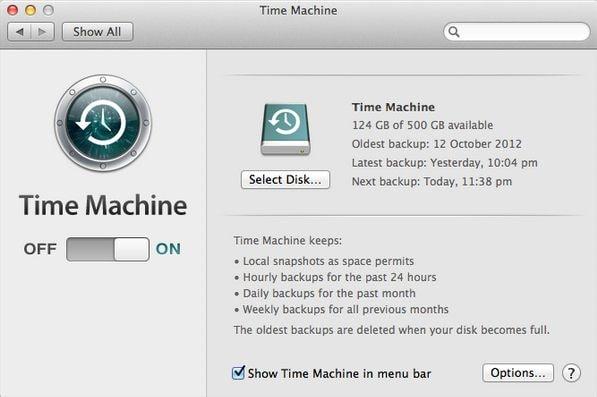 restore mac os x el capitan from time machine