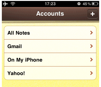 sync notes iphone