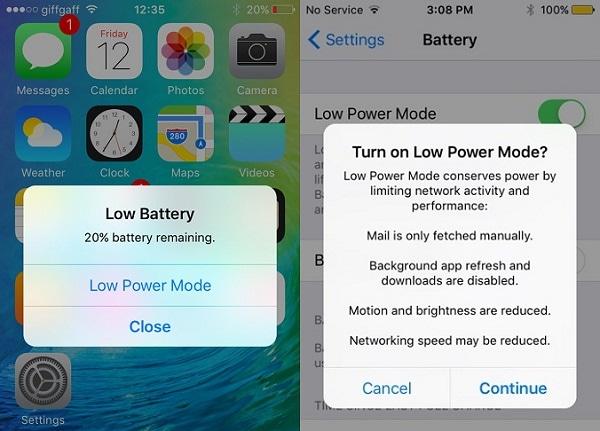 Ios 9 battery life