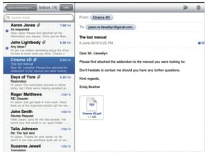 email attachment for ipad