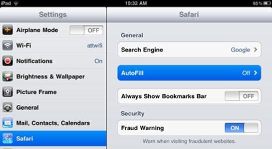 iPad Safari tweak