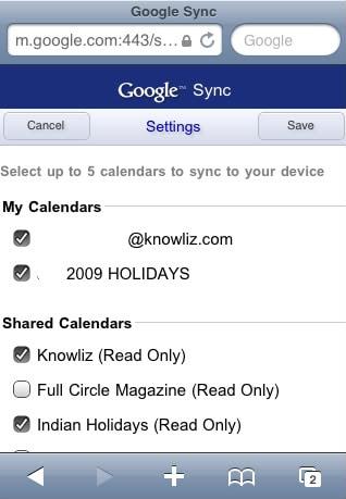 iPhone 6 calendars