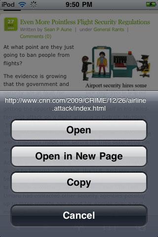 iPad Safari url
