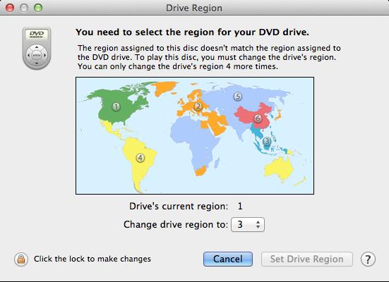 open different region dvd