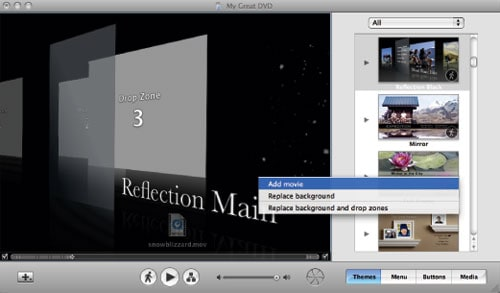 Use iDVD Themes in iMovie