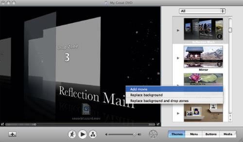 Make iMovie DVD Menu with iDVD