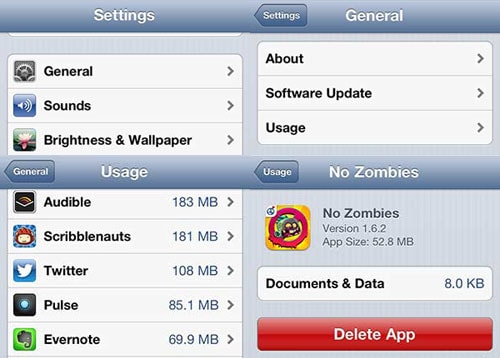 delete apps from iPhone or iPod touch