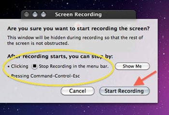 quicktime record screen