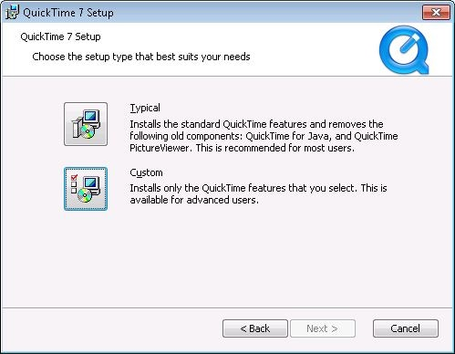 install quicktime in windows