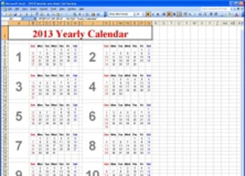 windows movie maker template XL Calendar