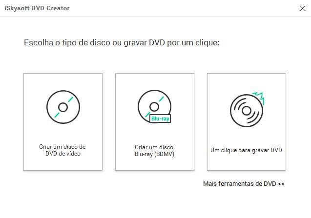 Abra o DVD Creator