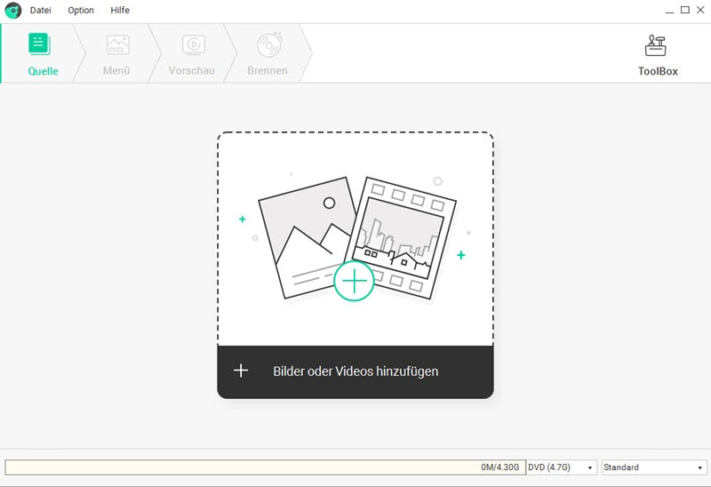 Video in den DVD-Ersteller importieren