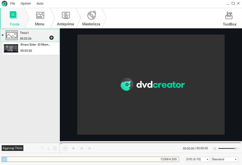 aggiungere un menu dvd
