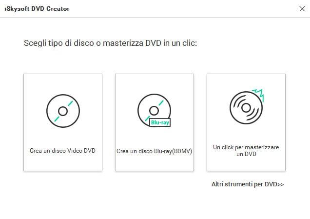 Avvia DVD Creator