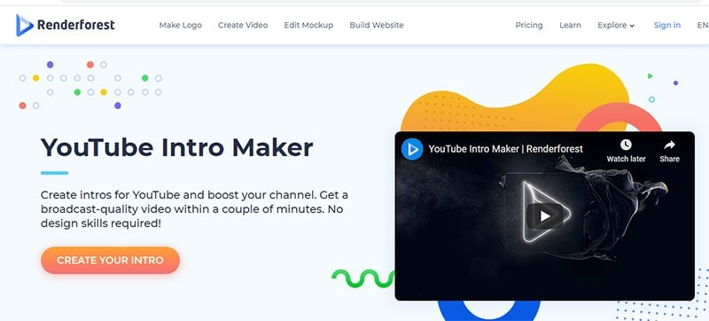 create youtube intro free